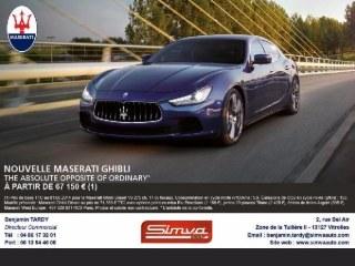 Nouvelle Maserati Ghibli
