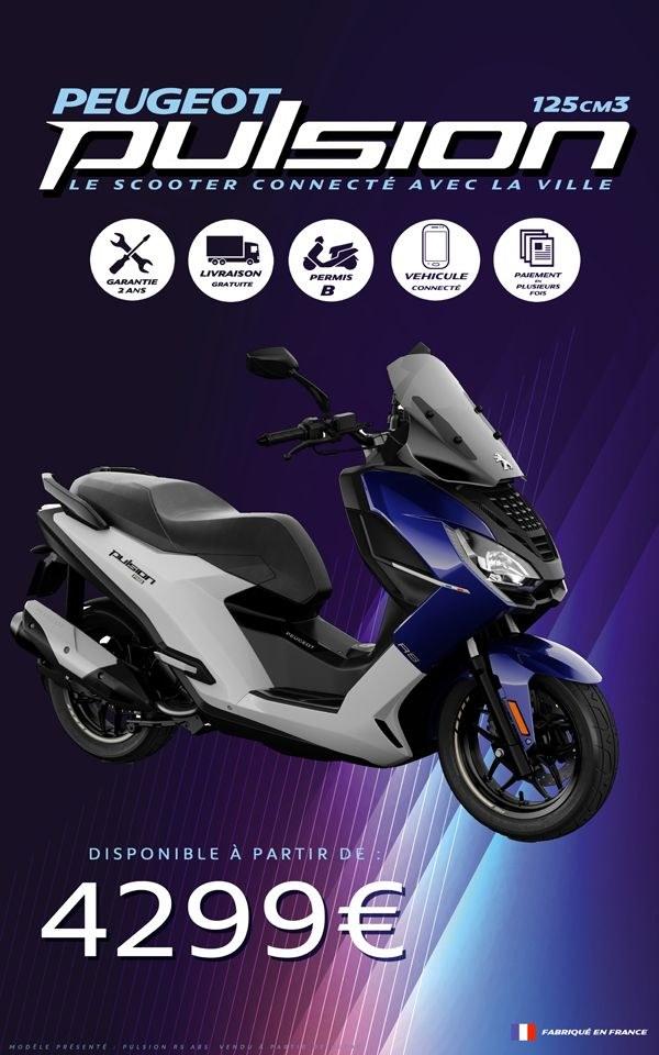 PEUGEOT PULSION ALLURE CONNECTE PEUGEOT MOTOCYCLES 125 CM3 PIAGGIO XMAX FORZA HONDA STRASBOURG ALSACE BAS RHIN HAUT RHIN