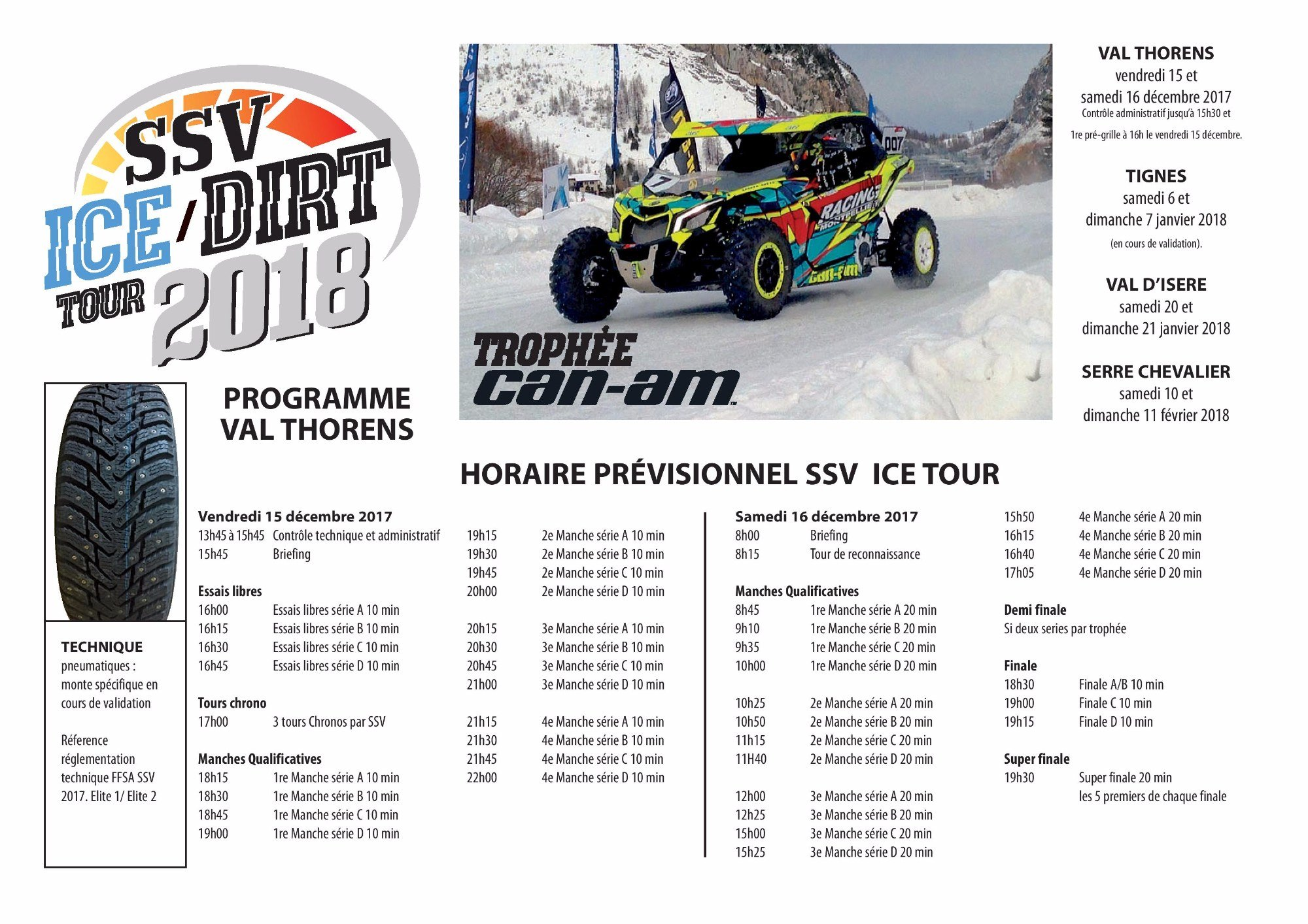 SSV ICE/DIRT TOUR 2018