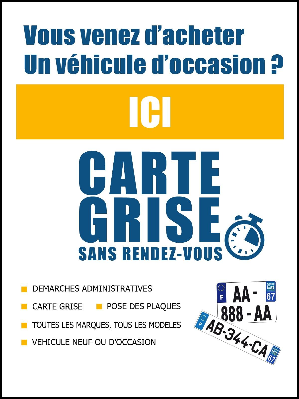 Certificat de carte grise véhicule Neuf Occasion