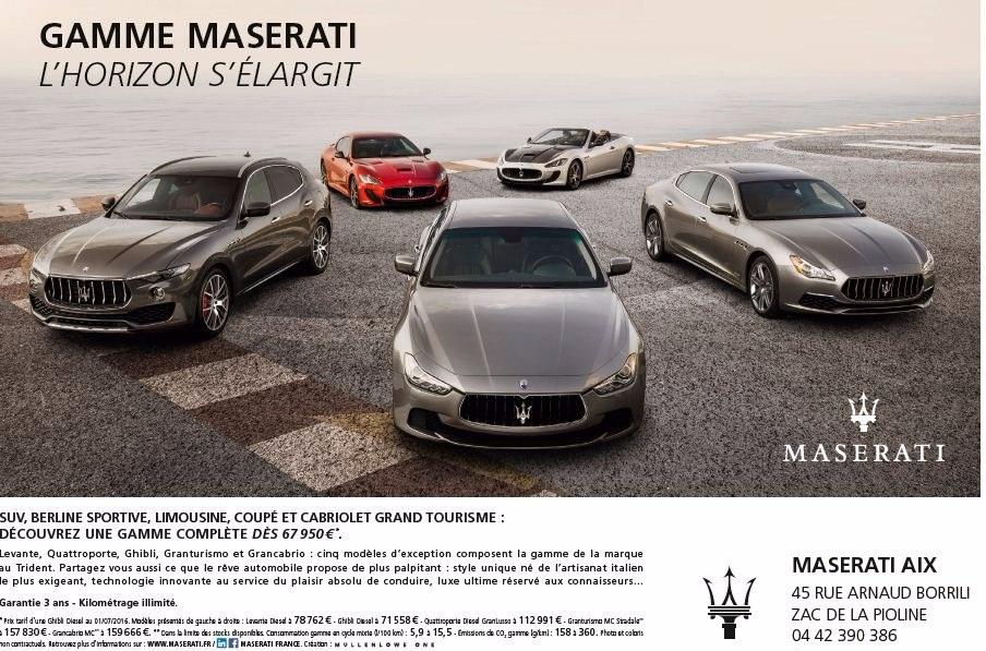 Gamme MASERATI 2017