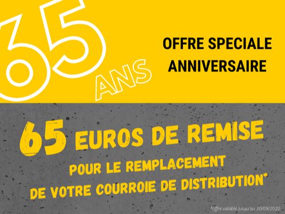 65€ de remise courroie de distribution